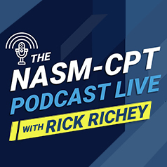 nasm-cpt podcast live with Rick Richey logo