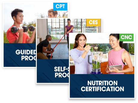 CPT Guided Study Plus Corrective Exercise Specialization Plus Nutrition Certification
