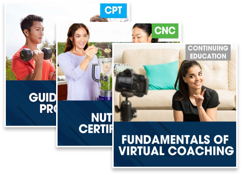 CPT Guided Study Plus Nutrition Certification Plus Virtual Coaching