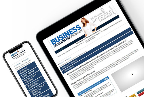 Tablet and mobile device with Business Accelerator Program