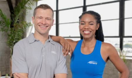 two personal trainers