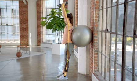 Corrective exercise specialization with a yoga ball