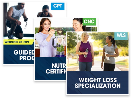 CPT Guided Study Plus Nutrition Certification Plus Weight Loss Specialization